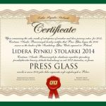 PRESS GLASS Liderem Rynku Stolarki 2014