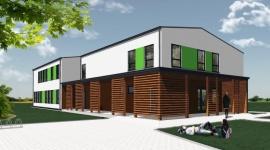 Ekspresowa budowa ekologicznej szkoły Steico w Czarnej Wodzie BIZNES, Infrastruktura - W październiku rozpoczęły się prace przy budowie nowej szkoły ponadgimnazjalnej w Czarnej Wodzie a już jutro budynek będzie gotowy w stanie surowym zamkniętym. Będzie to pierwszy obiekt użyteczności publicznej w Polsce wykonany w energooszczędnej technologii szkieletowej Steico.