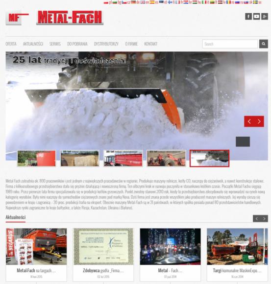 Nowy serwis internetowy spółki Metal – Fach BIZNES, Gospodarka - Jeden z liderów na polskim rynku w dziedzinie budowy maszyn rolniczych, spółka Metal – Fach z Sokółki zyskała nowe oblicze w sieci.
