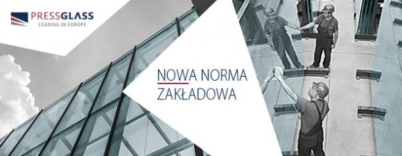 PRESS GLASS z nową normą zakładową Przemysł, BIZNES - Firma PRESS GLASS, która specjalizuje się w produkcji szyb dla budownictwa, opublikowała nową wersję normy zakładowej, obowiązującej w jej zakładach w Polsce oraz Chorwacji. Jak tłumaczy producent, dokument został zaktualizowany i wyraźnie poszerzony.