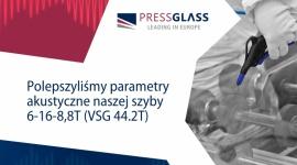 PRESS GLASS z coraz lepszymi wynikami akustycznymi Przemysł, BIZNES - Instytut badawczy IFT Rosenheim potwierdził poprawę parametrów jednej z zespolonych szyb dźwiękochłonnych z oferty firmy PRESS GLASS, która specjalizuje się w produkcji szyb dla budownictwa.