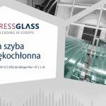 Nowa szyba dźwiękochłonna PRESS GLASS