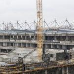 Trwa montaż konstrukcji stalowej dachu Stadionu Miejskiego w Łodz