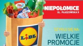 OTWARCIE PIERWSZEGO SKLEPU LIDL W NIEPOŁOMICACH BIZNES, Gospodarka - 27 października o godzinie 8:00 przy ul. Płaszowskiej 9 otwarty został pierwszy sklep sieci Lidl w Niepołomicach.
