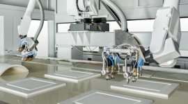 """""""Nieludzko"""" doskonały robot Przemysł, BIZNES - iGiottoApp X2 to najbardziej zaawansowana wersja robota antropomorficznego marki Cefla do lakierowania natryskowego z wykorzystaniem technologii 6-osi. Jego elastyczność odpowiada na trend indywidualizacji produkcji mebli, produkowanych metodą just in time."""