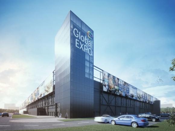 Powstaje największa zabudowa na terenie Portu Żerańskiego BIZNES, Gospodarka - Wielofunkcyjny kompleks z centrum targowo-wystawienniczym Global Expo, który powstaje w miejscu dawnych hal magazynowych FSO, będzie największą zabudową na terenie Portu Żerańskiego.