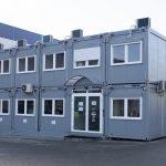 Modułowe biuro TNT przy nowej sortowni w Gdańsku