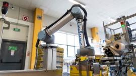 Co może cobot? Universal Robots prezentuje zastosowania robotów współpracujących Przemysł, BIZNES - Małe i średnie firmy w Polsce w pierwszej kolejności planują robotyzację pakowania i paletyzacji (39,6% badanych), obsługi maszyn (37,6%), montażu (18,8%) i przenoszenia towarów (17,8%). Te i inne aplikacje prezentuje Universal Robots (UR)