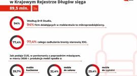 Branża meblowa czeka na odmrożenie gospodarki BIZNES, Gospodarka - Epidemia koronawirusa zatrzymała rozwój polskiej branży meblarskiej. Wprowadzone ograniczenia uderzyły najmocniej w mikroprzedsiębiorców, którzy stanowią większość firm na rynku. W kwietniu 2020 roku ich zadłużenie w bazie KRD wyniosło prawie 80% wszystkich należności branży.