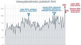 Nie było wakacji od upadłości BIZNES, Gospodarka - Rekordowa liczba niewypłacalności polskich firm, która niestety nie była zjawiskiem jednorazowym