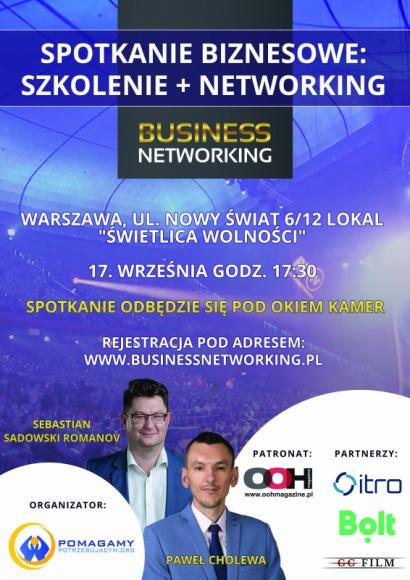 Spotkanie biznesowe 17. września 2020 w Warszawie BIZNES, Gospodarka - Jesteś przedsiębiorcą i chcesz dowiedzieć się, w jaki sposób rozwijać swoją firmę oraz objąć przewagę konkurencyjną?