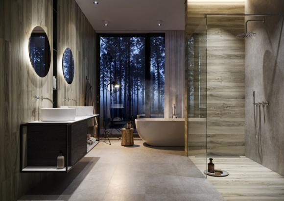 Jesienne inspiracje naturą w Twojej łazience BIZNES, Infrastruktura - Na szczęście inspiracje i ciekawe pomysły aranżacyjne są wokół nas tuż na wyciągnięcie ręki. Wystarczy wyjrzeć przez okno, zachwycić się jesienną aurą i przenieść jej atmosferę wprost do swojej łazienki.